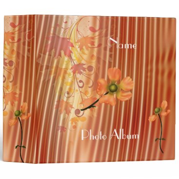Professional Business Binder Peach Floral Photo Album Business Office