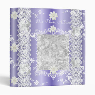 Binder Photo Album Lilac Purple Floral