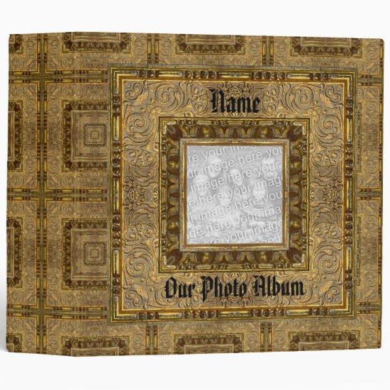 Binder Photo Album Old Wooden Book Frame 2