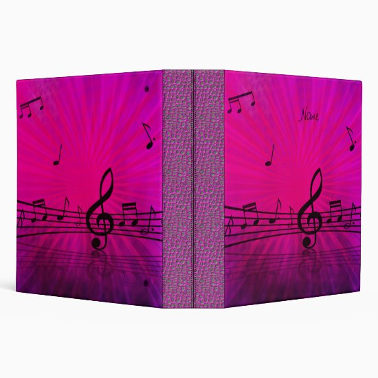 Binder Pink Leather Look Music Business Office