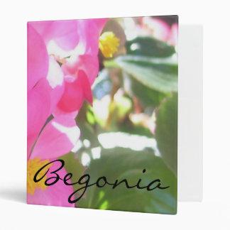 """Binder - Pink, Sun-Dappled """"Begonia"""""""