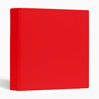 Binder Red with Royal Blue Dots