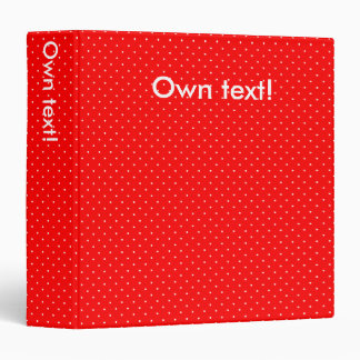 Binder Red with White Dots