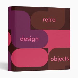 Binder retro design objects