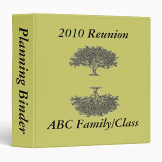 Binder -  Reunion Planning