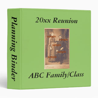 Binder -  Reunion Planning Book