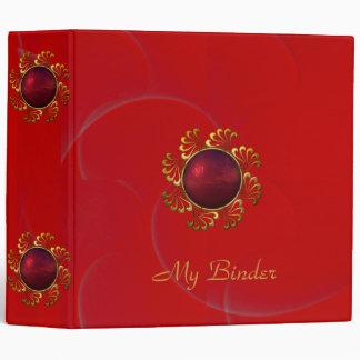 Binder Rich Padded Velvet Red Jewel