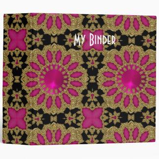Binder Rich Pink Black