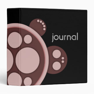 Binder, Round Turtle, Brown Pinkish tan Black Binder