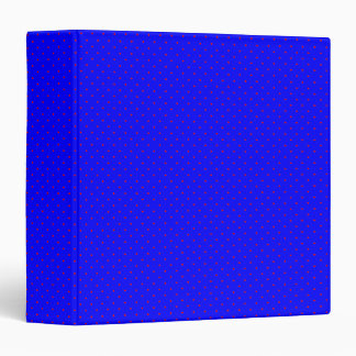 Binder Royal Blue with Red Dots