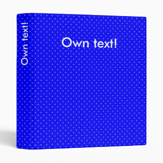 Binder Royal Blue with White Dots