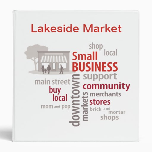 Binder, Shop Local, Buy Local, Small Business