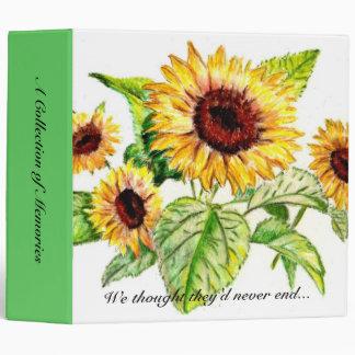 Binder, Sunflowers Binder