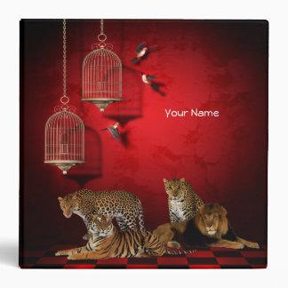 Binder Tiger Cheetah Leopard Lion Wild Animals