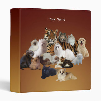 Binder Tiger Dogs Cats