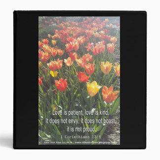 Binder - Tulips photo with Bible Verse