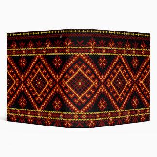 Binder Ukrainian Cross Stitch Embroidery Red Gold