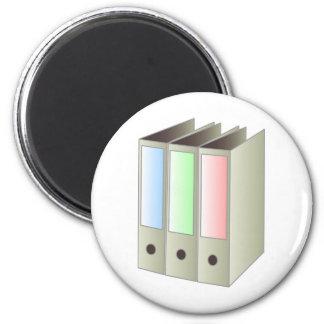 binder_Vector_Clipart school work office pastel bl 2 Inch Round Magnet
