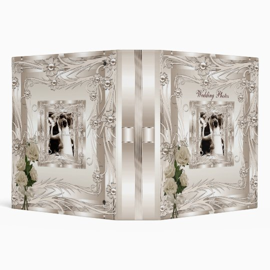 Binder Wedding Photo Album Cream Art Deco