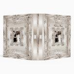 Binder Wedding Photo Album Cream Art Deco 3 Ring Binders