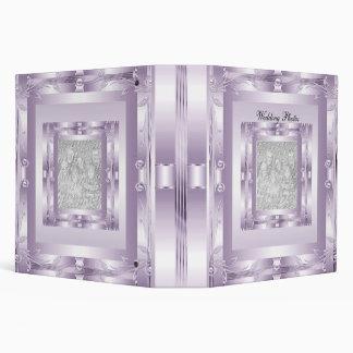 Binder Wedding Photo Album Mauve Lilac Art Deco