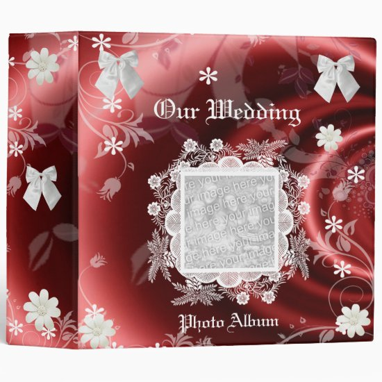Binder Wedding Photo Album Pink Red White Frame