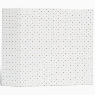Binder White with Golden Dots