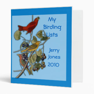 Binder with Audobon Tanager Illustration