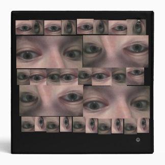 Binder with Bizzare creepy eye print