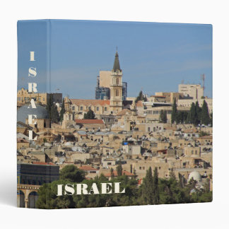 Binder With City of Jerusalem Background Tile