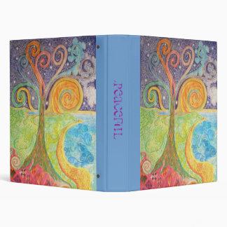 Binder with Colourful Landscape Design