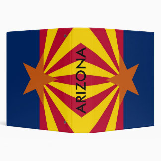 Binder with Flag of Arizona, USA