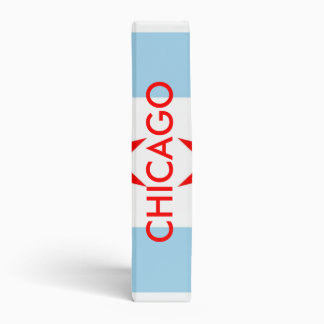 Binder with Flag of Chicago, Illinois, USA