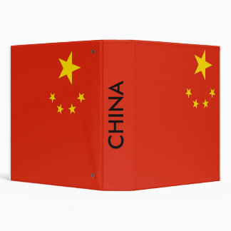 Binder with Flag of China