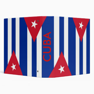 Binder with Flag of Cuba