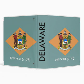 Binder with Flag of Delaware, USA