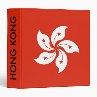 Binder with Flag of Hong Kong, China