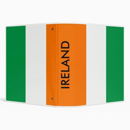 Binder with Flag of Ireland
