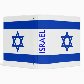 Binder with Flag of Israel
