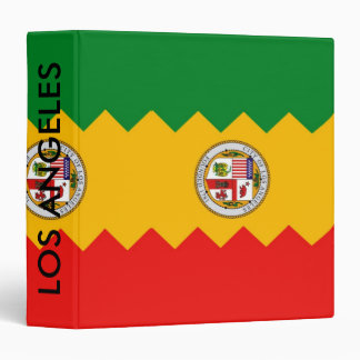 Binder with Flag of Los Angeles, California, USA