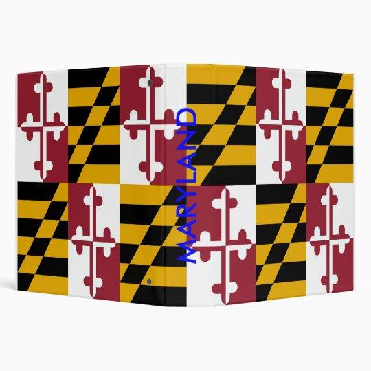 Binder with Flag of Maryland, USA