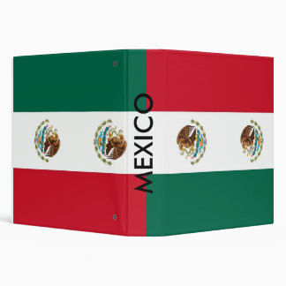 Binder with Flag of Mexico