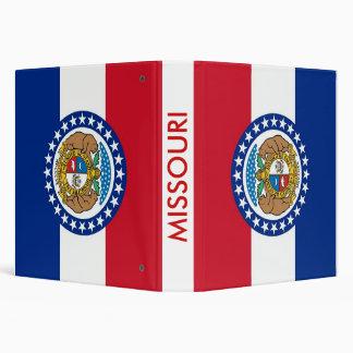 Binder with Flag of Missouri, USA