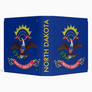 Binder with Flag of North Dakota, USA