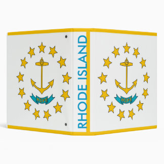 Binder with Flag of Rhode Island, USA