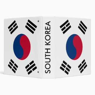 Binder with Flag of South Korea