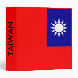 Binder with Flag of Taiwan