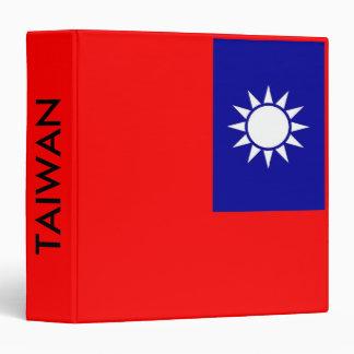 Binder with Flag of Taiwan
