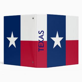 Binder with Flag of Texas USA