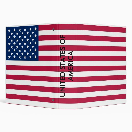 Binder with Flag of United States of America
